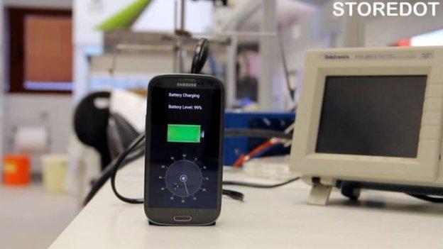 Demonstration of StoreDot's battery