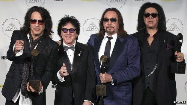 Paul Stanley, Peter Criss, Ace Frehley y Gene Simmons de Kiss
