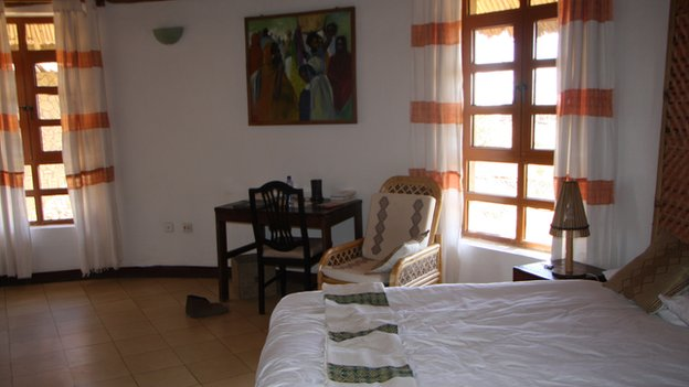 Hotel room at the Simien Lodge
