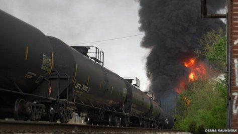 Train derailment in Lynchburg