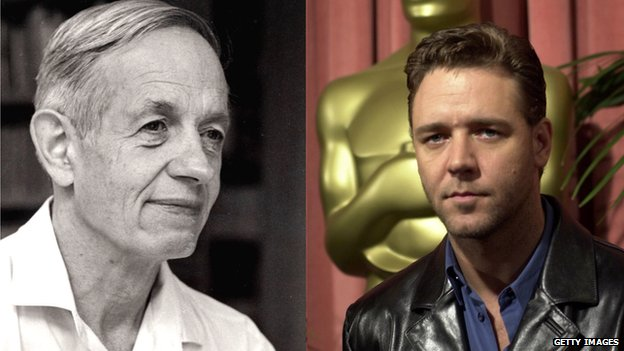 John Forbes Nash Jr and Russell Crowe