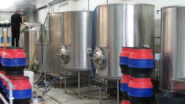The Cronx brewery is based at an industrial estate on the very outskirts of London