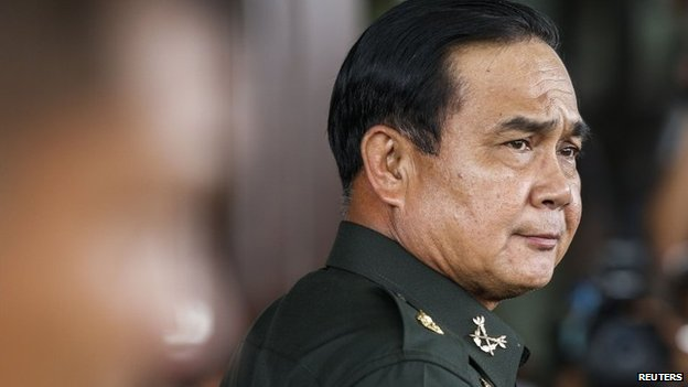 Thai Army chief General Prayuth Chan-ocha  seen in Bangkok on 20 May 2014