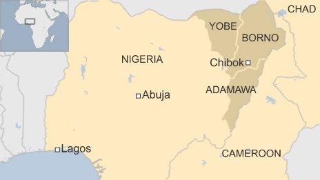 Nigeria-Cameroon map