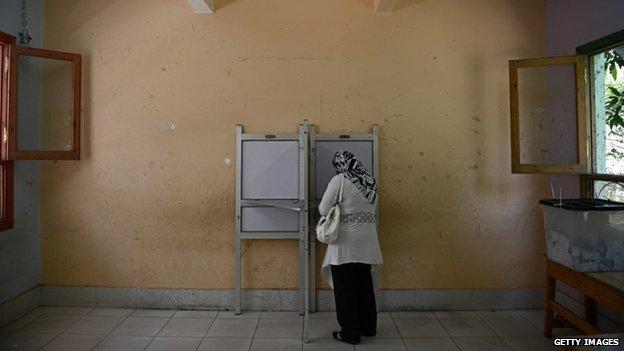 Egyptian voter in Cairo (27/05/14)