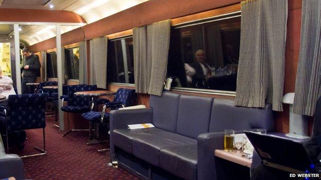 Caledonian sleeper train interior