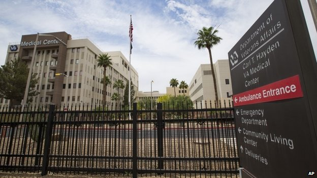The Carl T Hayden VA Medical Center in Phoenix is seen 28 May 2014
