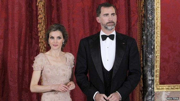 Princess Letizia and her husband  Prince Felipe, 2013 image