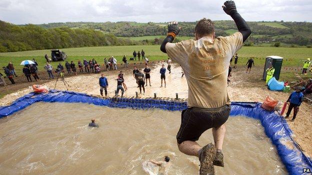 Participant in a Tough Mudder event