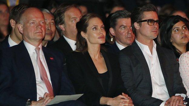William Hague, Angelina Jolie and Brad Pitt