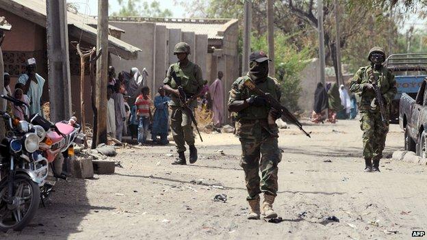 Troops in northern Nigeria