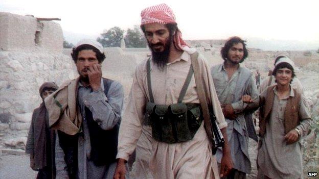 Osama bin Laden in Afghanistan - date unknown