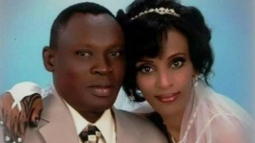 Meriam Ibrahim and her husband, Daniel Wani
