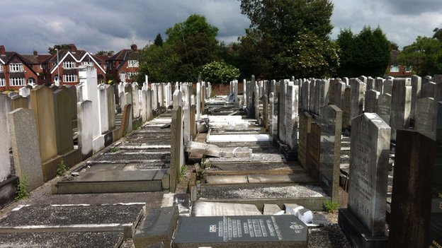 Vandalised Jewish graves
