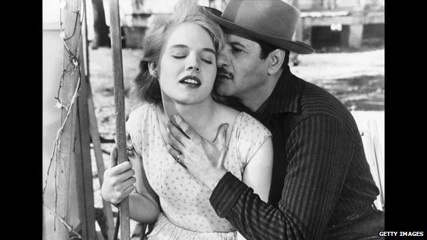Eli Wallach with Carroll Baker in Baby Doll
