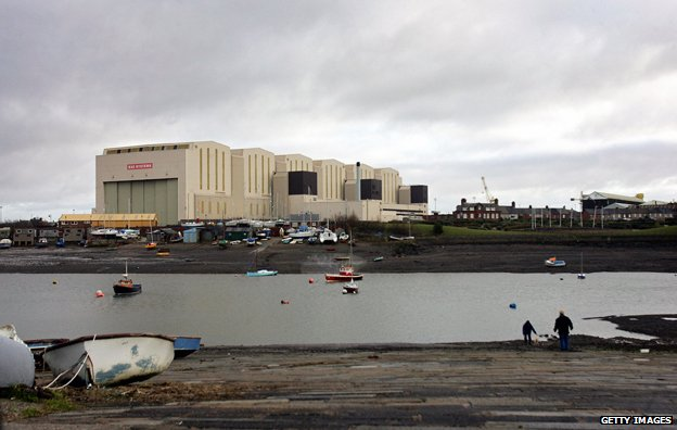 The BAE Systems construction hall dominates the skyline above the town of Barrow-in-Furness,