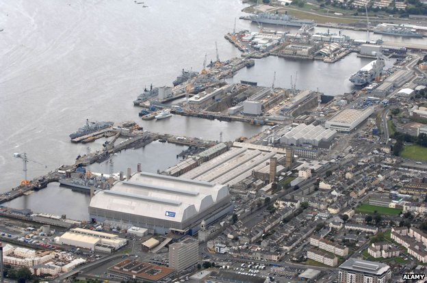 Devonport naval base, Plymouth