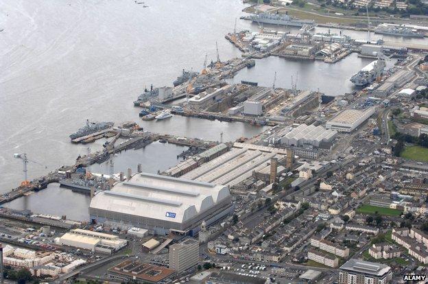 Devonport naval base, Plymouth
