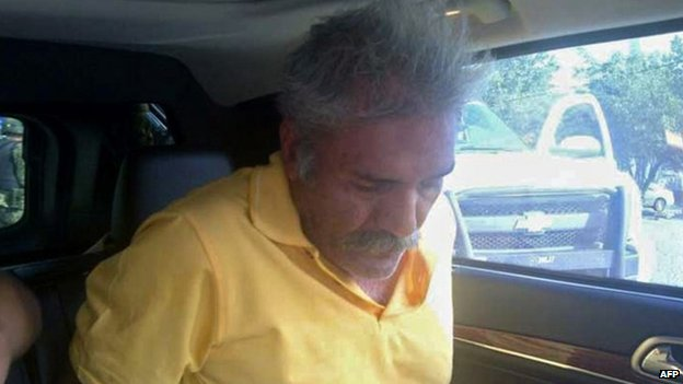 Jose Manuel Mireles is seen arrested by Mexican police. Photo: 27 June 2014