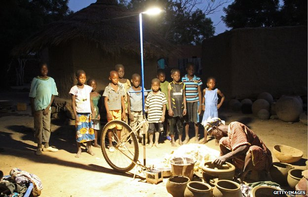 Solar streetlamp in Mali