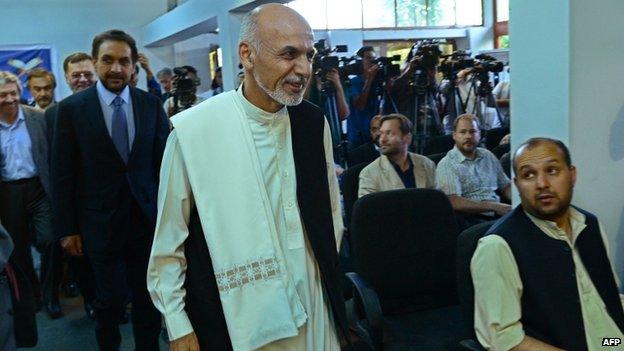 Ashraf Ghani in Kabul (8 July 2014)
