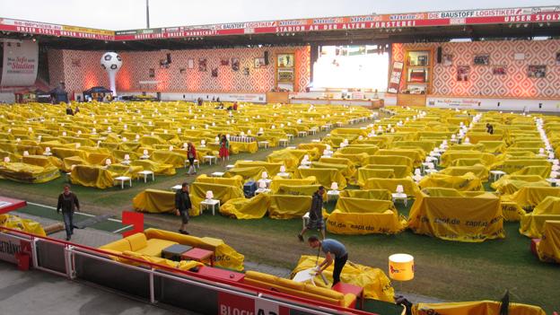 Union Berlin's stadium on Thursday