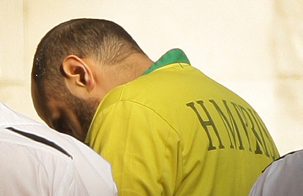 Babr Ahmad is led into court, 2009