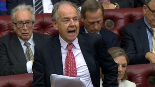 Lord Falconer speaking in the Lords