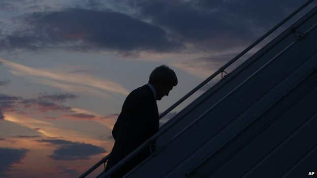 US Secretary of State John Kerry returns to Washington