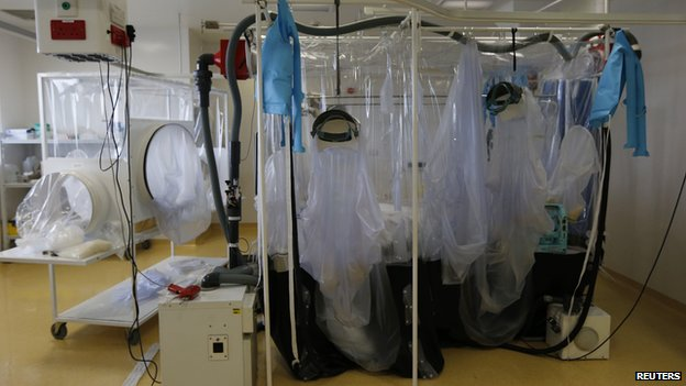 The isolation unit at The Royal Free Hospital