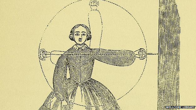 Illustration from 19th Century exercise book