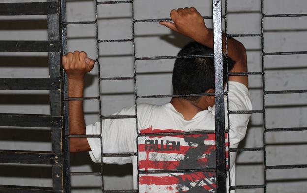 A man behind bars
