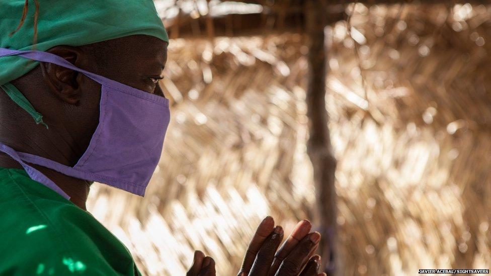 Eye surgeon Boubacar Fomba in Mali