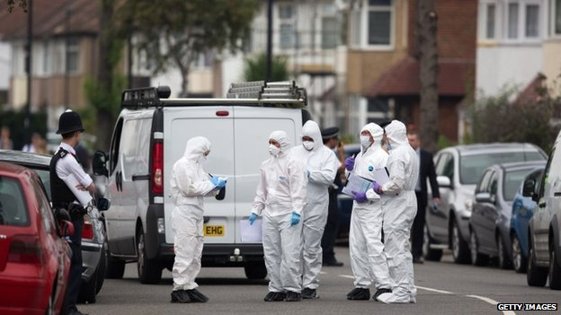 Forensic officers in Edmonton