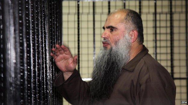 Abu Qatada in court in Amman, Jordan on 7 September 2014