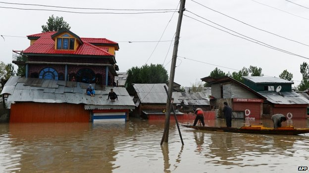 Floods have caused massive damages to several towns and cities in Indian-administered Kashmir