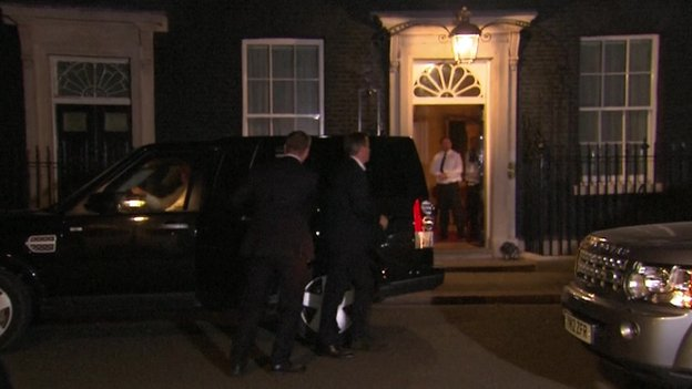 David Cameron returning to Downing Street