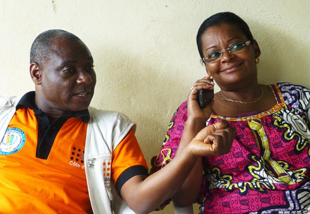Adiza Ba sat next to Dr Bernard Konan