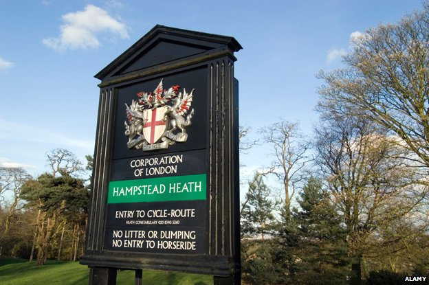 Hampstead Heath sign