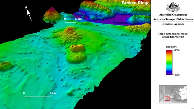 Map of seabed from flight MH370 hunt