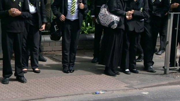 Schoolchildren in Birmingham