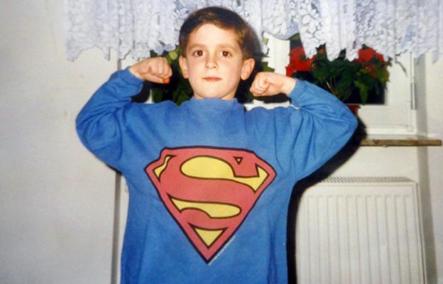 Blerim as a boy
