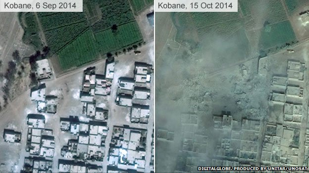 Kobane destruction