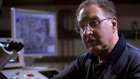 BBC undated handout video grab of Professor Geoffrey Raisman