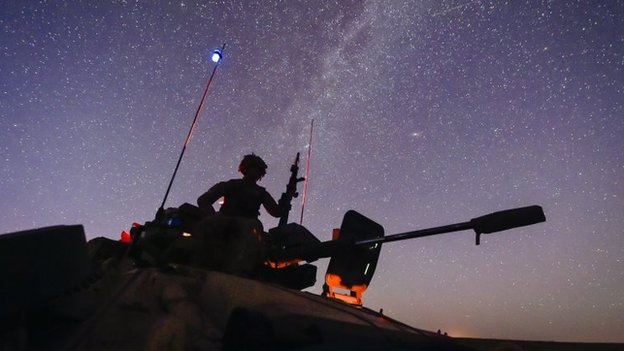 1st Battalion of the Yorkshire Regiment during a tactical night defensive task