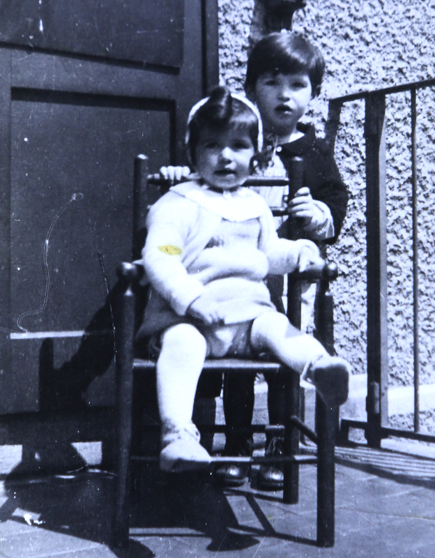 David with his younger sister before they were sent away