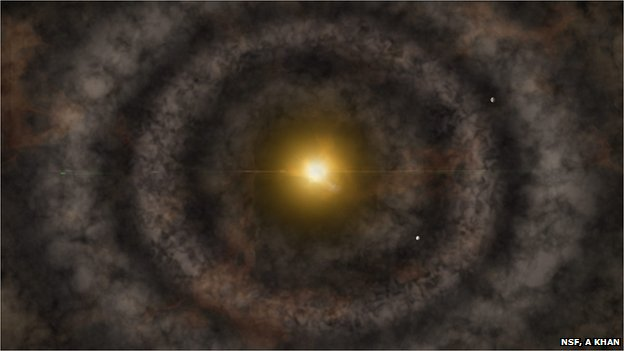 artist's impression of a protoplanetary disc