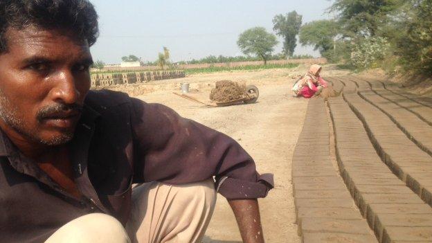 Suleman Masih, a brick kiln worker in Pakistan, November 2014