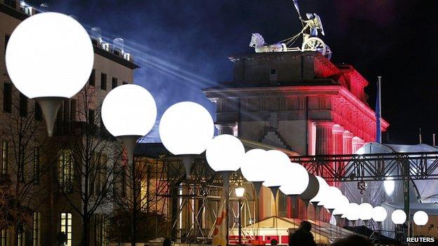 WW1, Berlin Wall Fall and Drama - Illuminated balloons