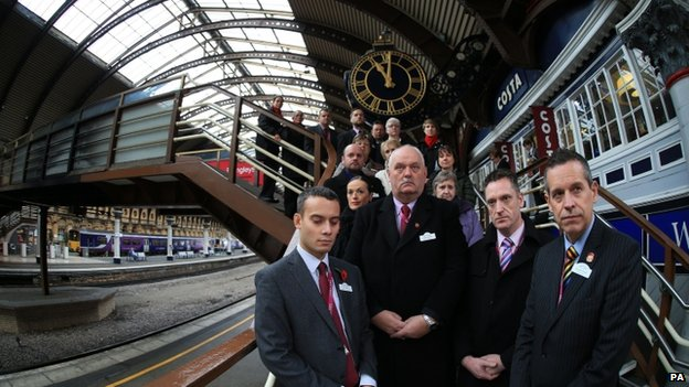 Staff at York Station on Armistice Day